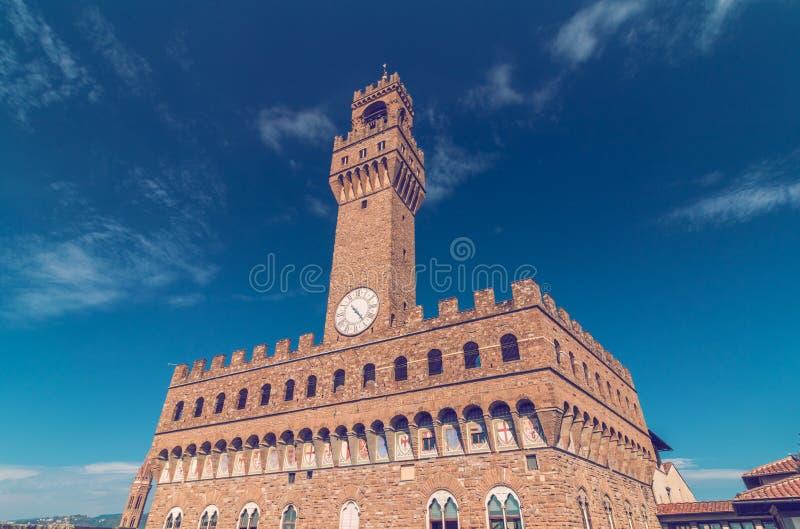 Palazzo vecchio in Florenz stockbilder