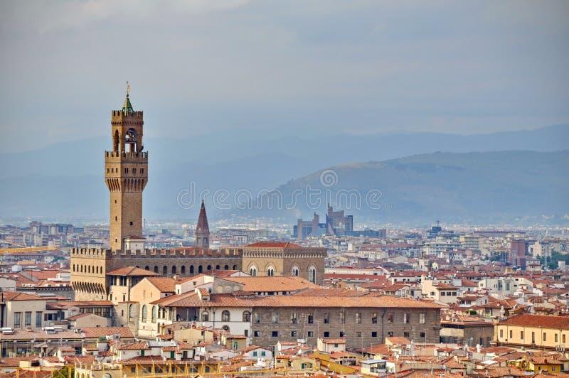 Palazzo vecchio in Florenz stockfotografie