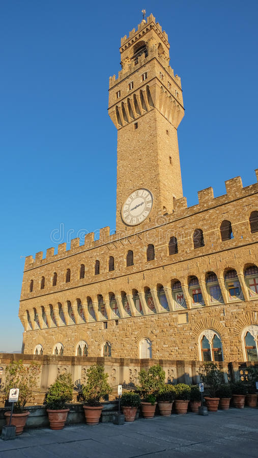 Palazzo Vecchio, Florenz stockbild