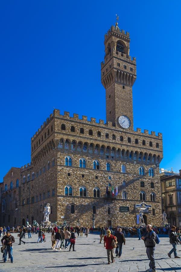 Palazzo Vecchio i Florence/Italien arkivbild