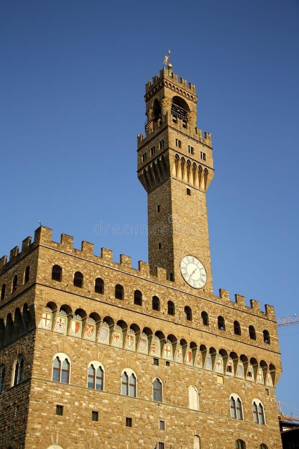 Palazzo Vecchio - palácio velho - em Florença (Itália) fotos de stock