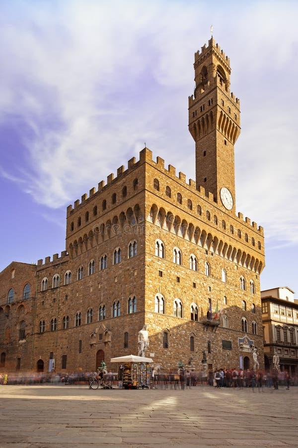 Palazzo Vecchio, Signoria Quadrat, Florenz, Italien. lizenzfreie stockfotografie