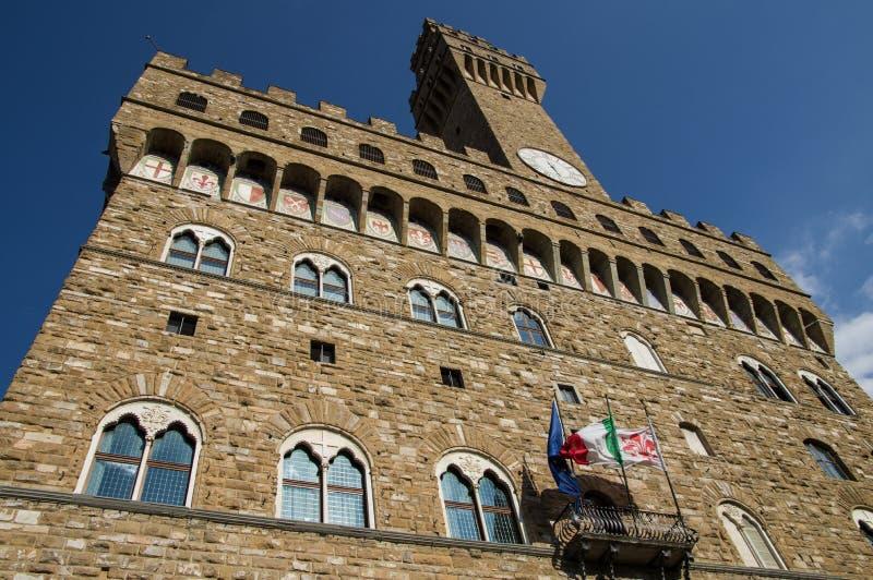 Palazzo Vecchio tower, Florence. royalty free stock photos