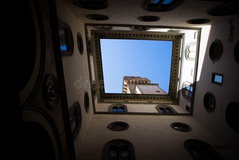 Palazzo w Florencja Vecchio, Włochy obrazy royalty free