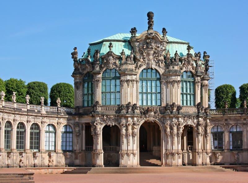 Palazzo Zwinger a Dresda, Sassonia, Germania immagini stock libere da diritti