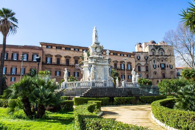Palazzodei Normanni in Palermo, Sicilië stock afbeeldingen