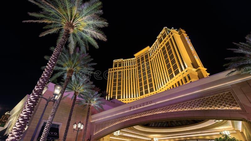 Palazzoen, hotell för 5 stjärna, i den Las Vegas remsan royaltyfri foto