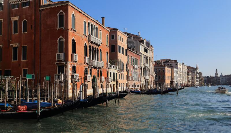 Palazzos históricos en Venecia, Italia imagen de archivo