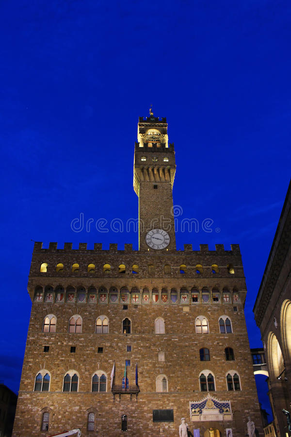 Palazzovecchio Engelse Florencia royalty-vrije stock afbeeldingen