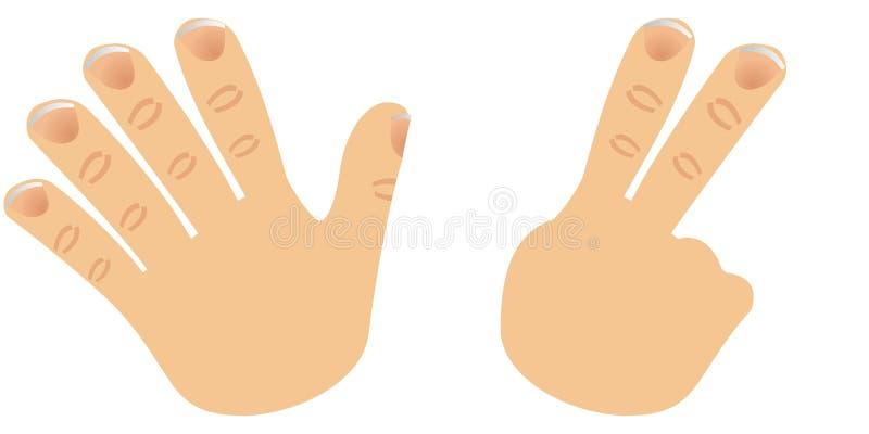 palce liczą 7 royalty ilustracja