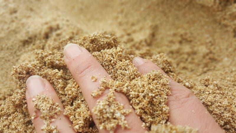 Palce w piasku obraz stock
