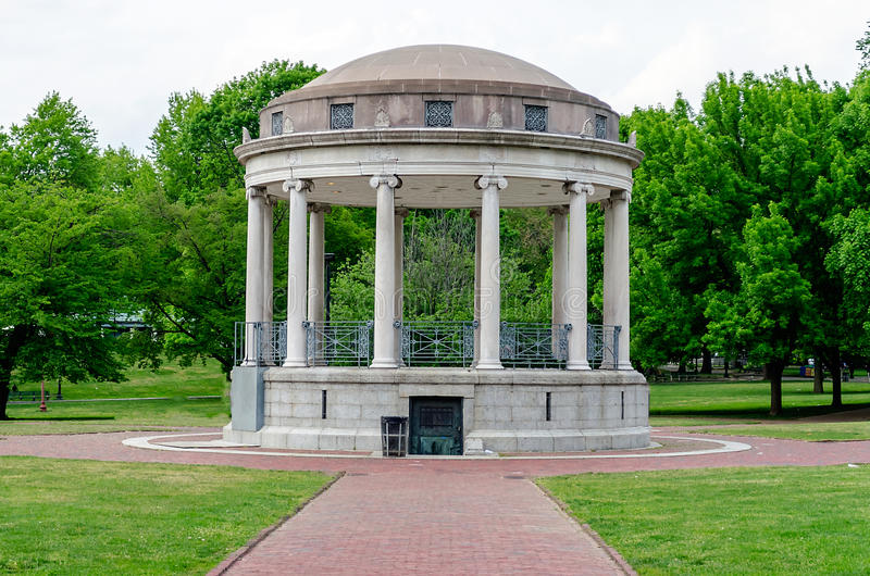 Palco dell'orchestra al terreno comunale di Boston fotografie stock libere da diritti