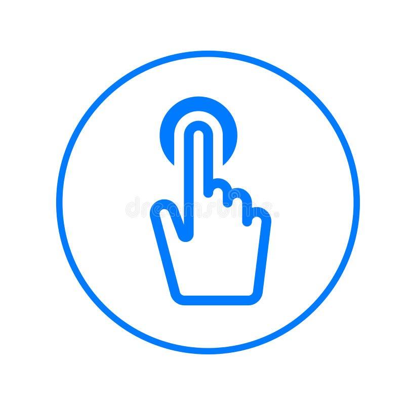 Palcowa dotyka ekranu kurendy linii ikona Round kolorowy znak Mieszkanie stylowy wektorowy symbol ilustracja wektor