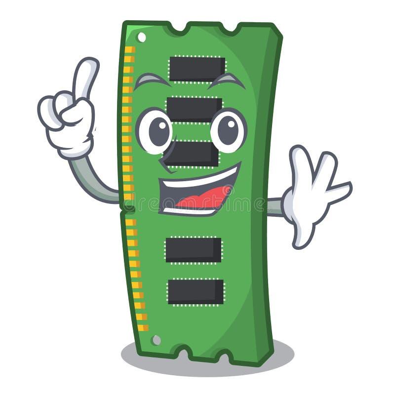 Palcowa RAM karta pami?ci nad kresk?wka st?? royalty ilustracja