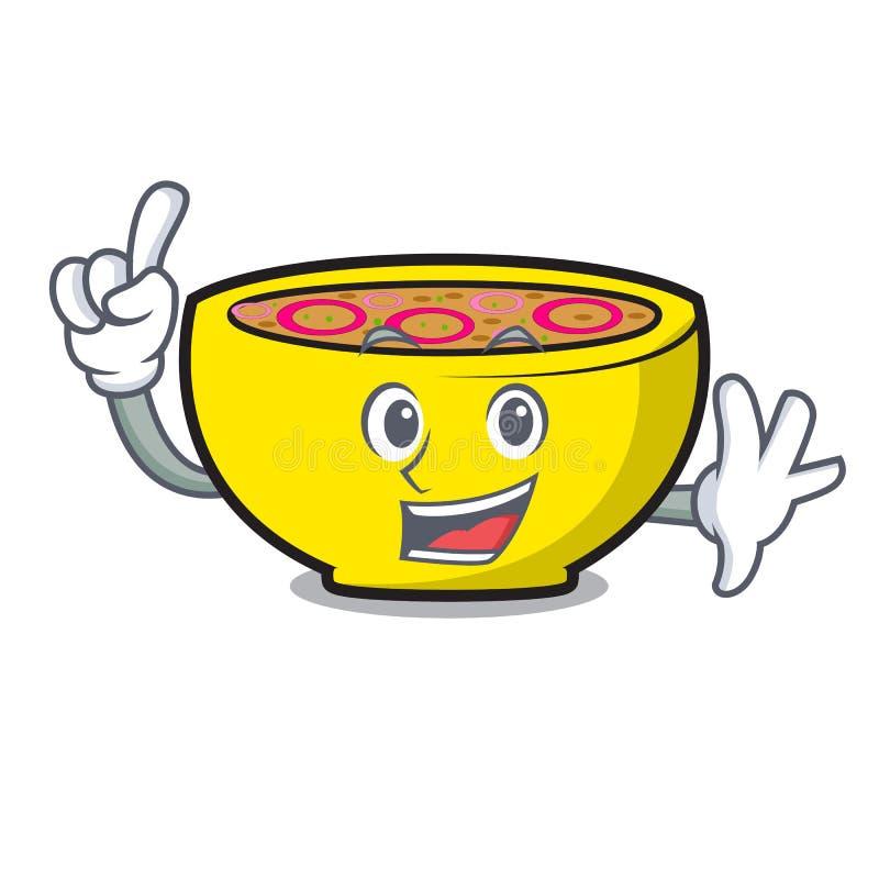 Palcowa zupna zrzeszeniowa maskotki kreskówka ilustracja wektor