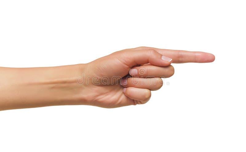 palcowej ręki ludzki punkt zdjęcie stock