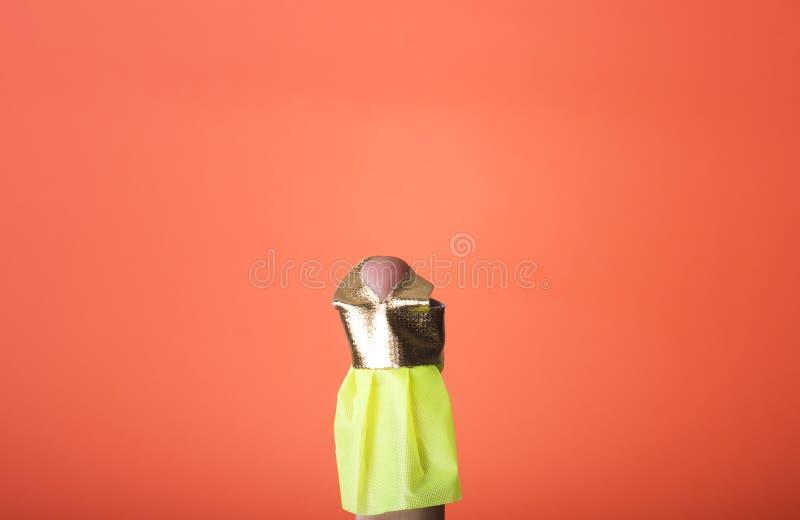 Palcowy będący ubranym suknię. Ty możesz rysować co chcesz ty zdjęcie stock