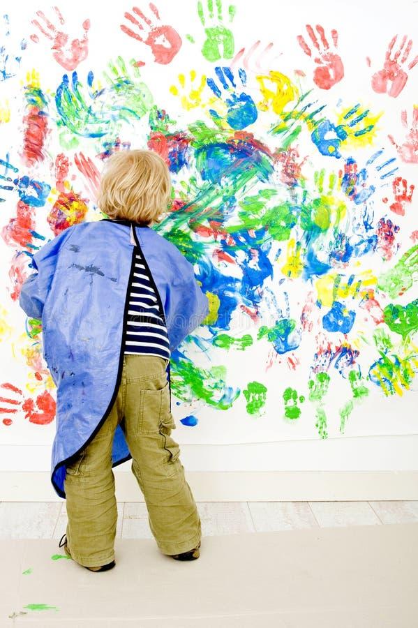 palcowy malarz zdjęcie stock