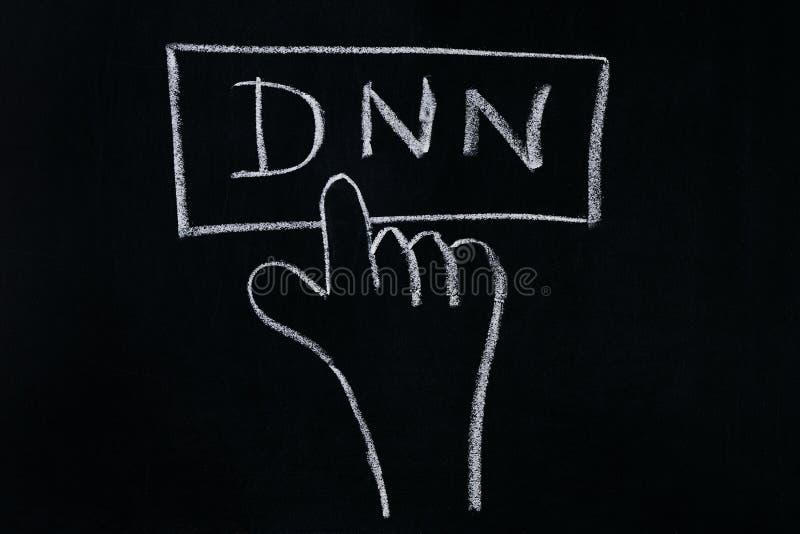 Palcowy stuknięcia DNN zdjęcia royalty free