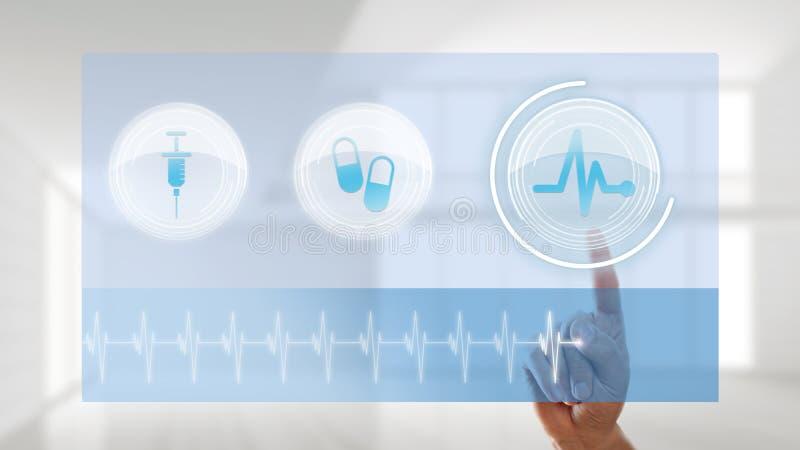 Palcowy wybiera tętno monitor obrazy stock
