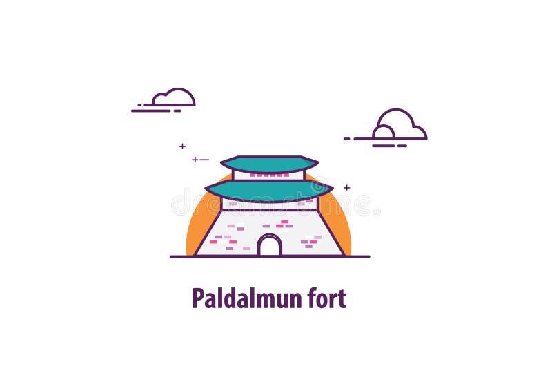 Paldalmun堡垒在韩国 免版税库存照片