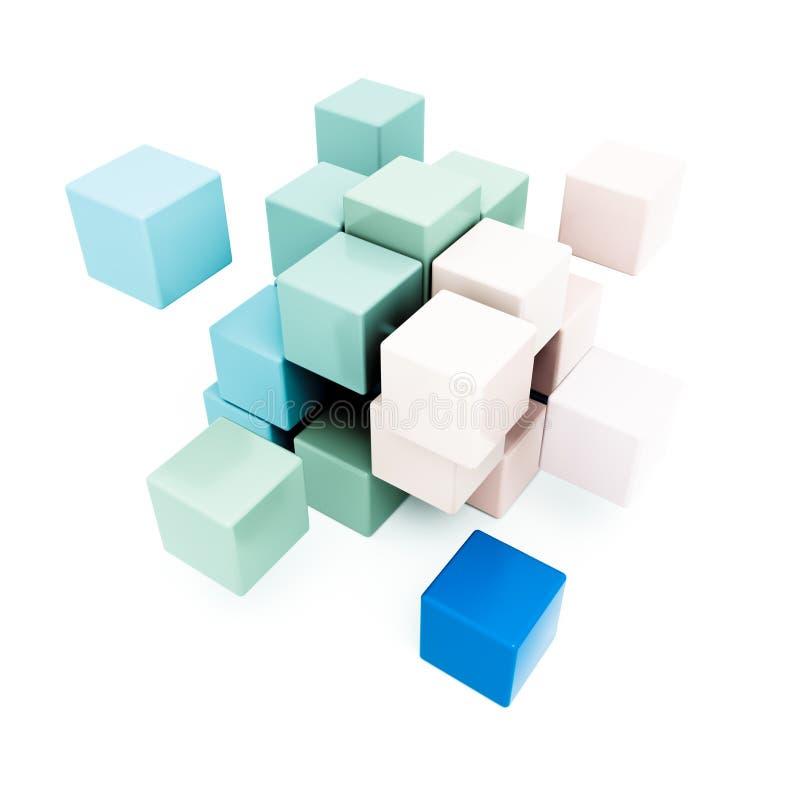 Download Pale blocks stock illustration. Image of blue, turquoise - 24728544