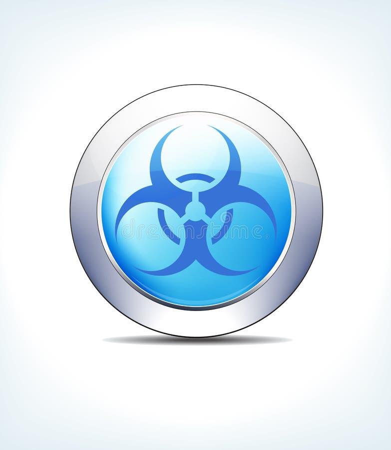 Pale Blue Button Biological Sign, Gezondheidszorg & Farmaceutische Ic vector illustratie