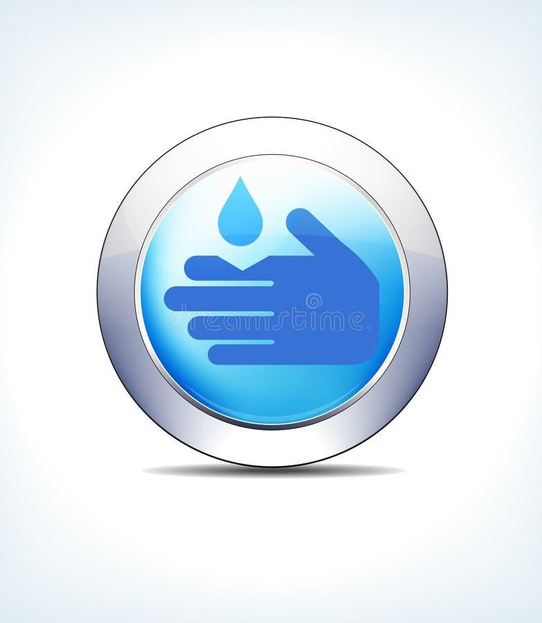 Pale Blue Button Corrosive Sign, sjukvård & läkemedel Ico stock illustrationer