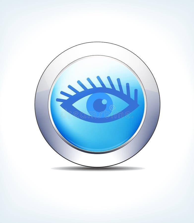 Pale Blue Button Eye Test-Controle, Gezondheidszorg & Farmaceutische Ico vector illustratie