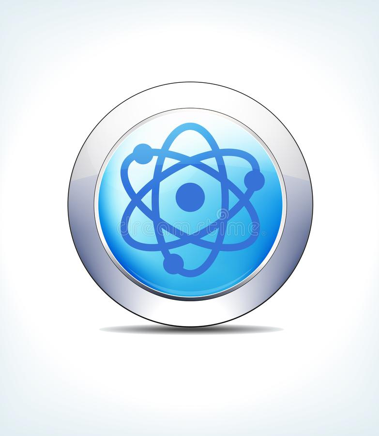 Pale Blue Button Nuclear Radioactive, Gezondheidszorg & Pharmaceutica stock illustratie
