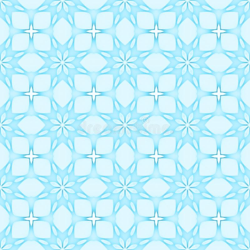 Pale blue flower mosaic detailed seamless textured pattern background. Pale blue flower mosaic detailed seamless and repeat textured pattern background vector illustration
