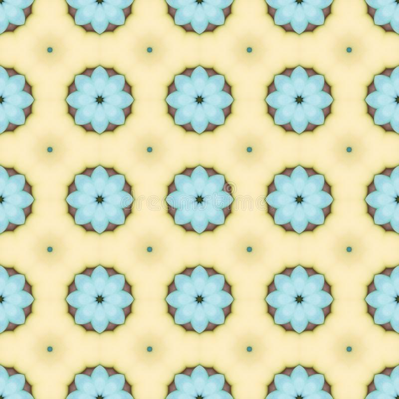 Pale blue flower mosaic detailed seamless textured pattern background. Pale blue flower mosaic detailed seamless and repeat textured pattern background stock photos