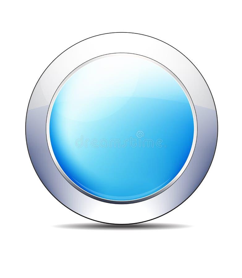 Pale Blue Shiny Button Icon, diseño del vector ilustración del vector