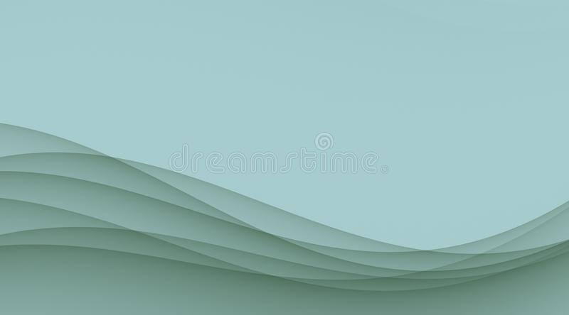 Pale blue smooth sloping waves and curves abstract wallpaper background illustration vector illustration