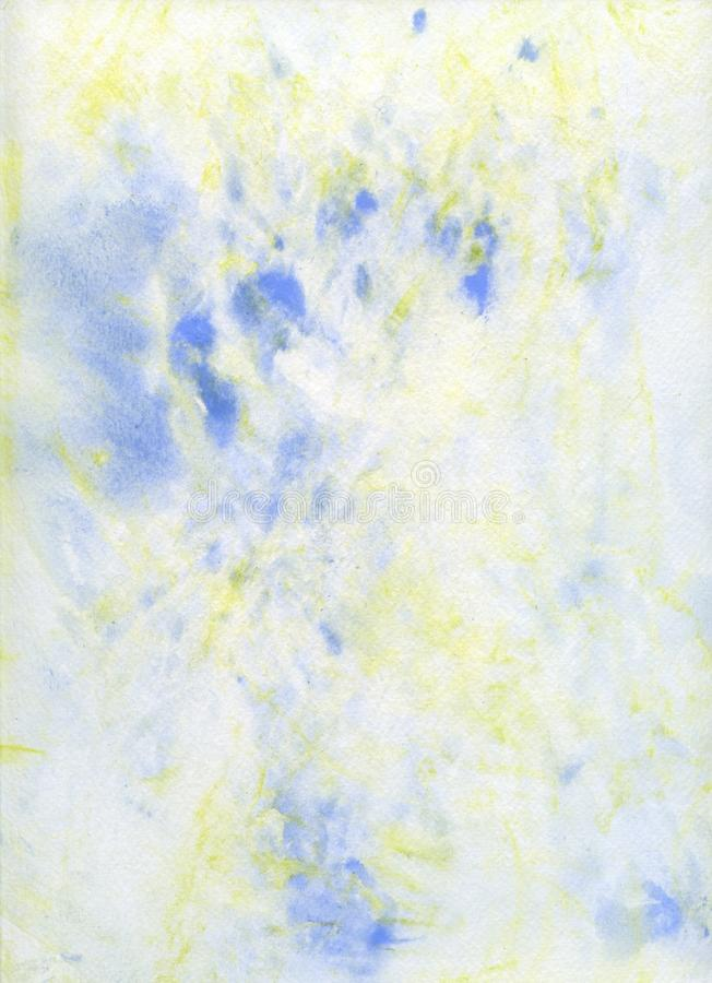 Download Pale Blue And Yello Abstract Watercolor Background Stock Illustration - Image: 21059222