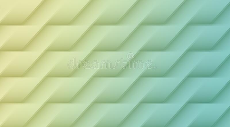 Pale blue and yellow geometric lines angles rectangles abstract pattern background illustration royalty free illustration