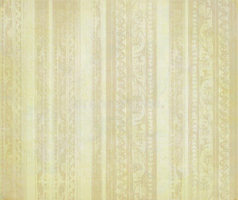 Pale Brown Floral Wood Carved Stripes Stock Image - Image of light ...