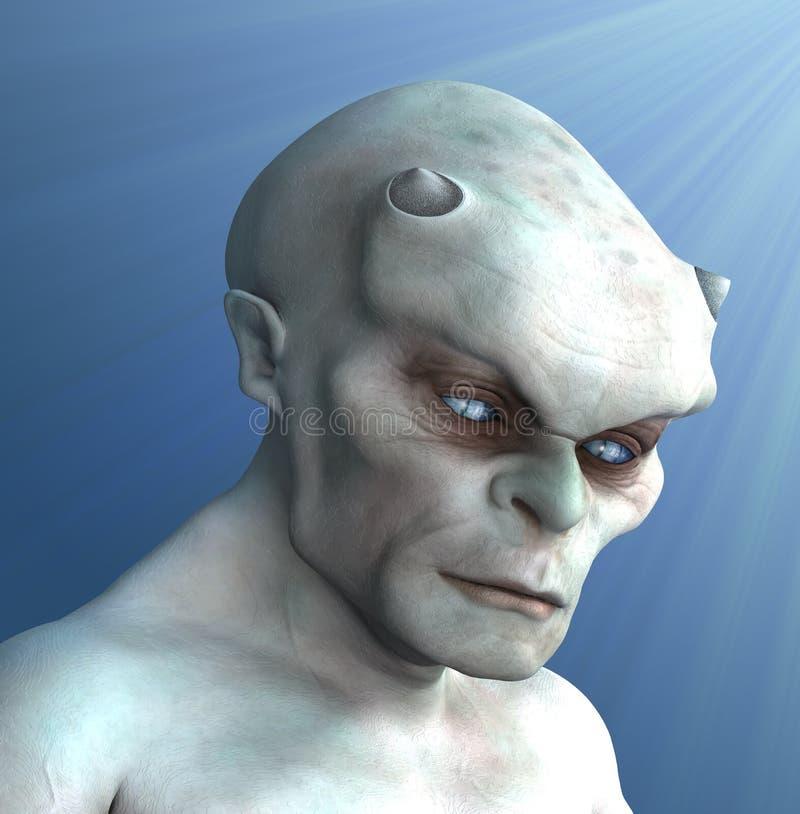 Pale Demon Portrait royalty free illustration