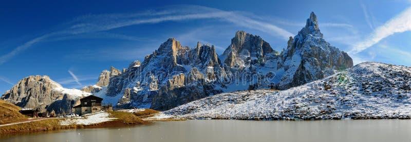 Pale di San Martino, dolomia, Italia immagini stock