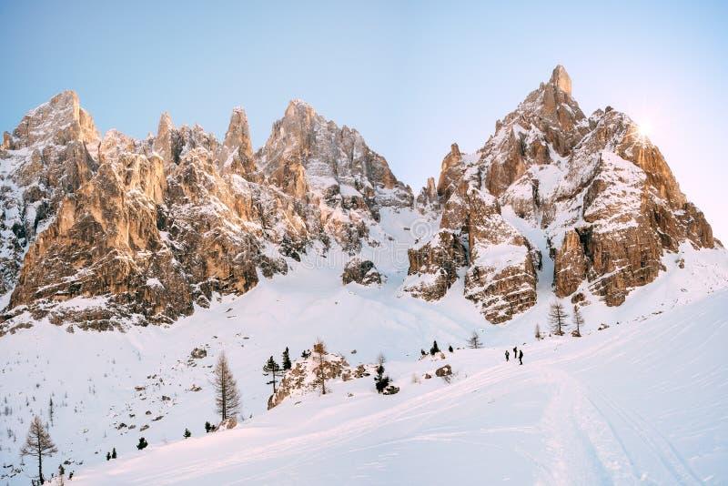 Pale di San Martino - Dolomiti stock afbeelding