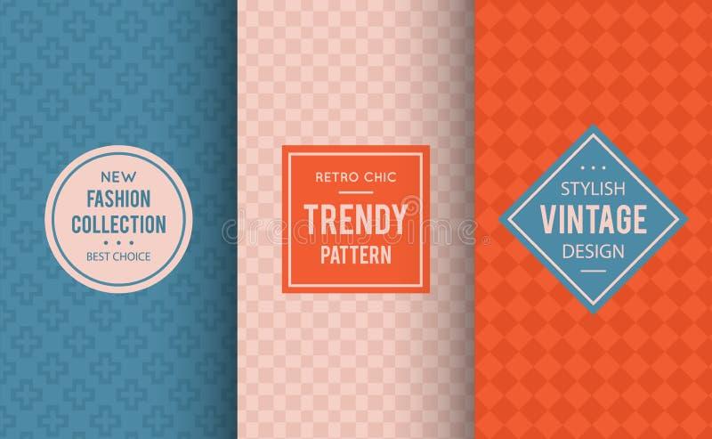 Pale dogwood seamless pattern background. Vector illustration for fashion design. Niagara geometric frame. Stylish decorative label set. Decoration texture vector illustration