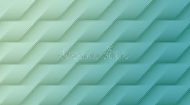 Pale green and aqua blue geometric lines angles rectangles abstract pattern background illustration royalty free illustration