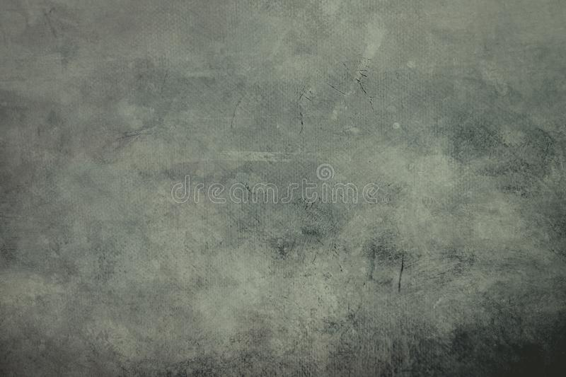 Pale green canvas background or texture with dark vignette borders. Grungy painting draft background or texture stock photos