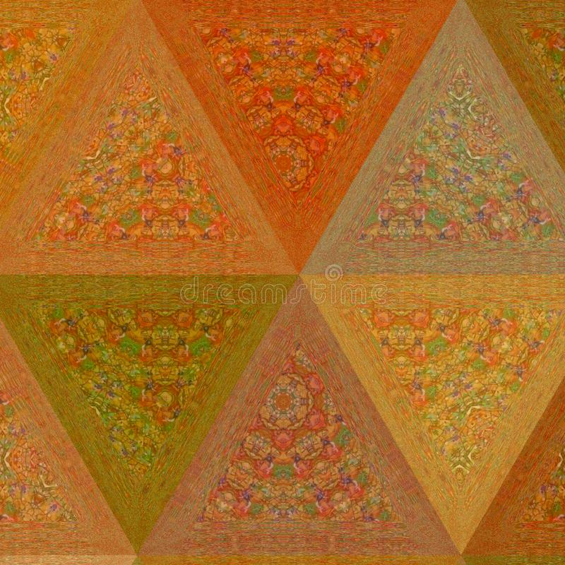 Abstract pale orange and beige colors Triangle Geometrical Banner royalty free stock images