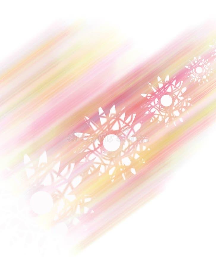 Pale pink flower fantasy vector illustration