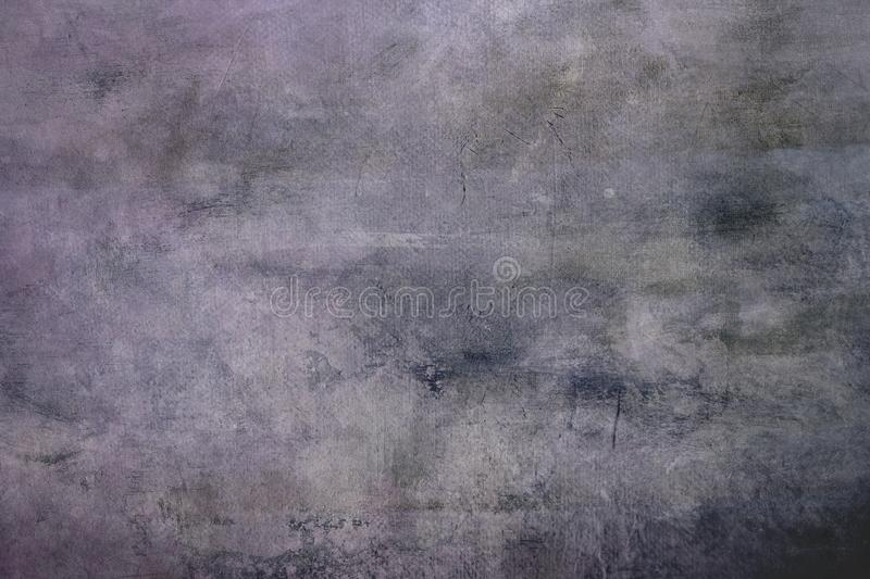 Pale pink grungy canvas background or texture with dark vignett. Gray abstract canvas background or texture with dark vignette borders stock images