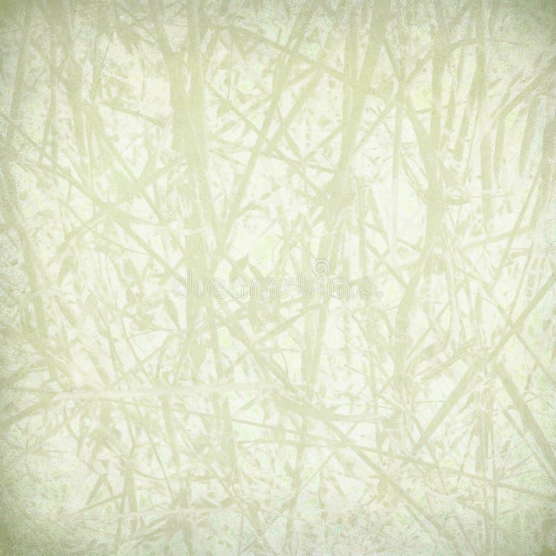 Pale straw print on paper