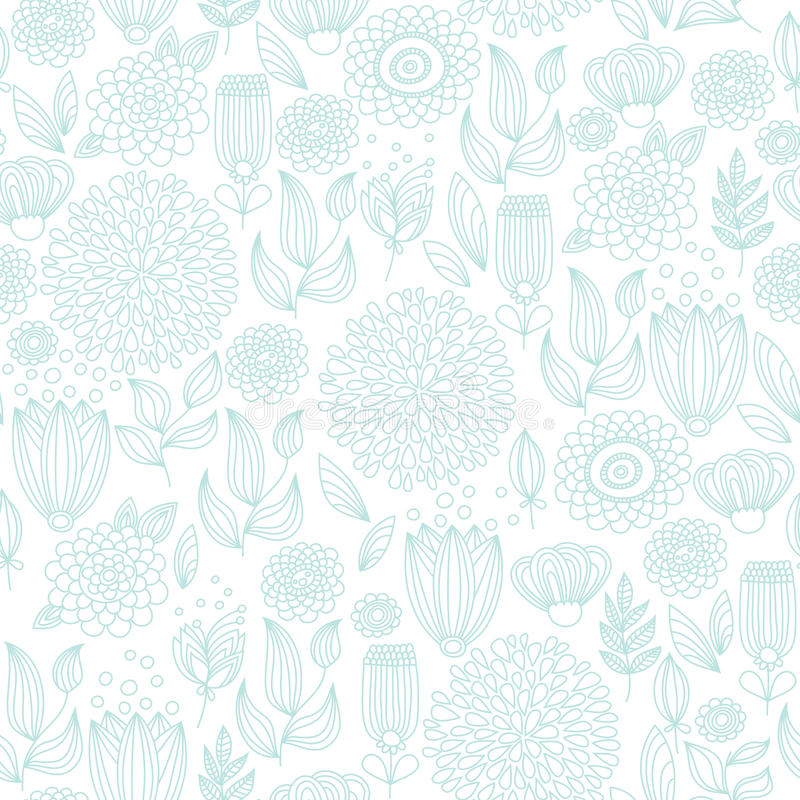 Download Pale Turquoise Seamless Floral Pattern Stock Vector - Illustration of plant, decorative: 22088222