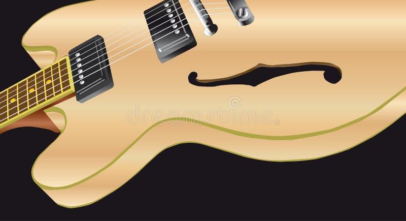 Pale Wood Electric Guitar ilustração do vetor