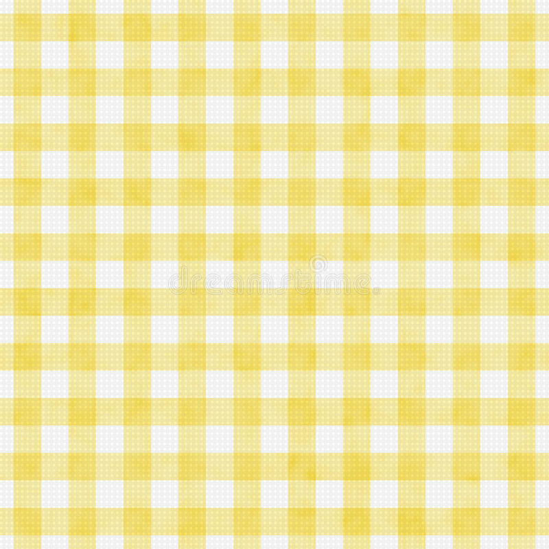 Pale Yellow Gingham Pattern Repeat bakgrund royaltyfri bild